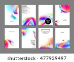 cover template with abstract... | Shutterstock .eps vector #477929497