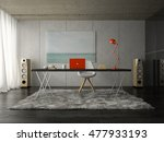 interior of modern office room... | Shutterstock . vector #477933193