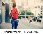 young asian woman walking on... | Shutterstock . vector #477933703