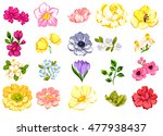 flower set | Shutterstock . vector #477938437