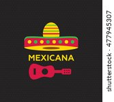 mexican food logo. mexican fast ... | Shutterstock . vector #477945307