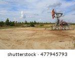 Oil Pump Jack Standing Idle.