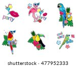patch badges vector tropical ...