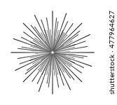 vector illustration of sunburst | Shutterstock .eps vector #477964627