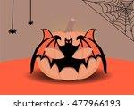 pumpkin for halloween mask | Shutterstock .eps vector #477966193