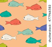 hand drawn seafood image.... | Shutterstock .eps vector #477966583