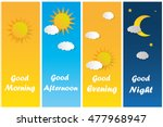 good morning good night day... | Shutterstock .eps vector #477968947
