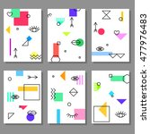 set of artistic colorful... | Shutterstock .eps vector #477976483