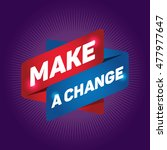 make a change arrow tag sign. | Shutterstock .eps vector #477977647