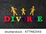 divorce play letters with paper ... | Shutterstock . vector #477982543
