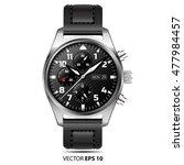 watch chronograph design vector ...   Shutterstock .eps vector #477984457