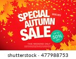 autumn sale template banner | Shutterstock .eps vector #477988753