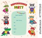 Superheroes. Card Invitation...