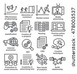 business management icons in... | Shutterstock .eps vector #478003537
