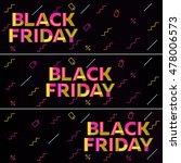 black friday sale. black web... | Shutterstock .eps vector #478006573