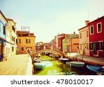 Burano Island In The Venice...