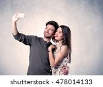 a young couple in love taking... | Shutterstock . vector #478014133