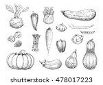 set of vector vintage... | Shutterstock .eps vector #478017223