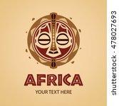 african mask logo template....   Shutterstock .eps vector #478027693