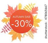 autumn sale 30  off circle... | Shutterstock .eps vector #478065667