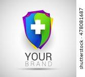 colorful medical secure logo... | Shutterstock .eps vector #478081687