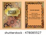 vintage greeting card with... | Shutterstock .eps vector #478085527