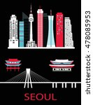 seoul city. korea.vector   Shutterstock .eps vector #478085953