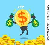 cartoon big idea character... | Shutterstock .eps vector #478086607