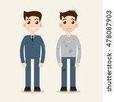 rich and poor man. wealth and... | Shutterstock . vector #478087903