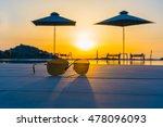 sunglasses near the swimming... | Shutterstock . vector #478096093