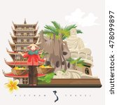 travel to vietnam. set of... | Shutterstock .eps vector #478099897