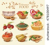 set of popular vietnamese food... | Shutterstock .eps vector #478100497