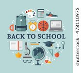 back to school flat design for... | Shutterstock .eps vector #478110973