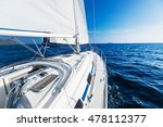sailing yacht moving with open... | Shutterstock . vector #478112377