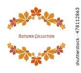 autumn frame. vector background.... | Shutterstock .eps vector #478112863