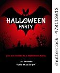halloween  party design...   Shutterstock .eps vector #478113613