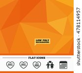 triangular low poly orange... | Shutterstock .eps vector #478114957