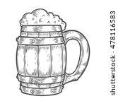 wooden craft beer oktoberfest... | Shutterstock .eps vector #478116583