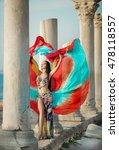 gorgeous arabian bellydancer... | Shutterstock . vector #478118557