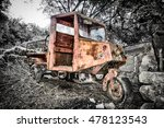 Old Cargo Tricycle In The...