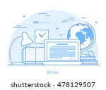 lineart flat copywriting writer ... | Shutterstock .eps vector #478129507