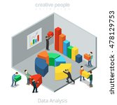 isometric flat businesspeople... | Shutterstock .eps vector #478129753