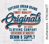 vintage denim typography  t... | Shutterstock .eps vector #478136677