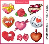 the set includes a rose  gift...   Shutterstock . vector #478141303