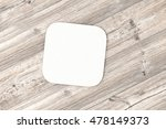 square paper coaster. isolated... | Shutterstock . vector #478149373