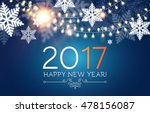 happy new 2017 year. seasons... | Shutterstock .eps vector #478156087