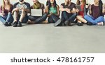 diverse people friendship... | Shutterstock . vector #478161757