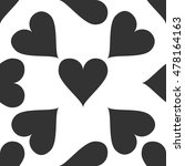 heart icon pattern on white...