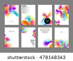cover template with abstract... | Shutterstock .eps vector #478168363