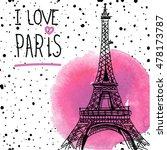 i love paris. card   poster  ...